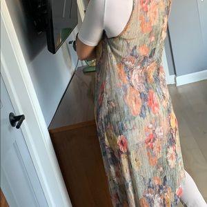 Zara Dresses - ZARA metallic floral sheer dress